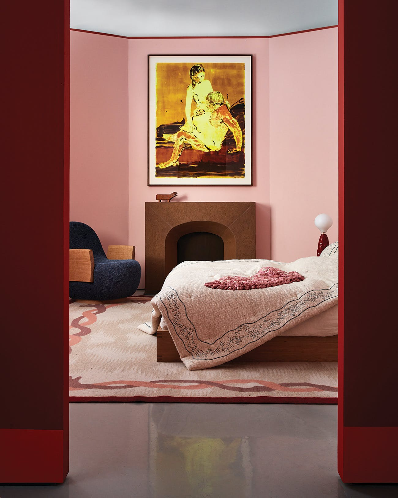 """Bedroom from """"LOVE,"""" photographed by Steven Kent Johnson."""