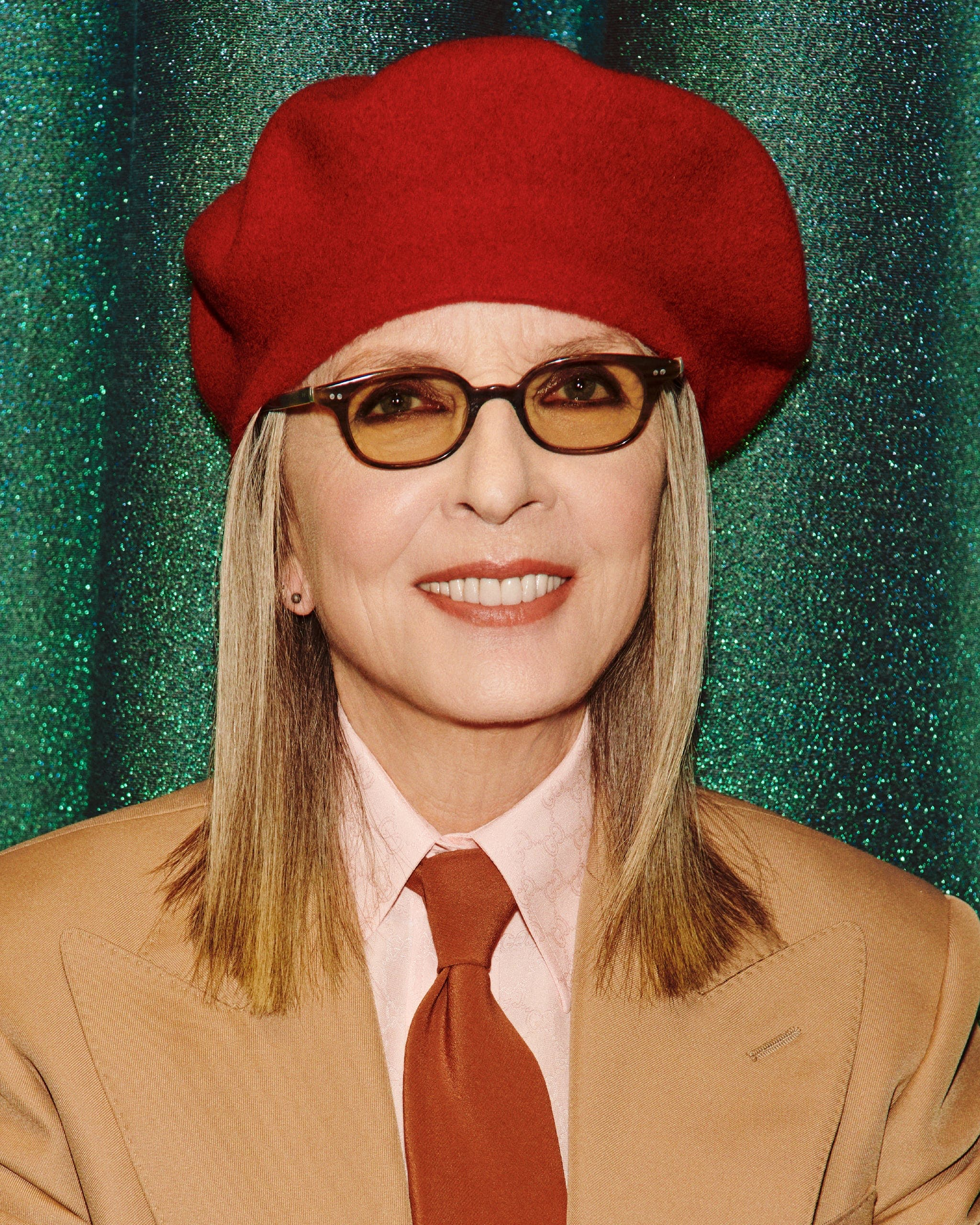 """Diane Keaton photographed by Harmony Korine for Gucci's """"Beloved"""" campaign."""