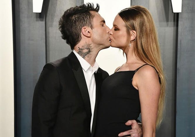 Maroon 5 Lead Singer Adam Devine and wife Behati Prinsloo