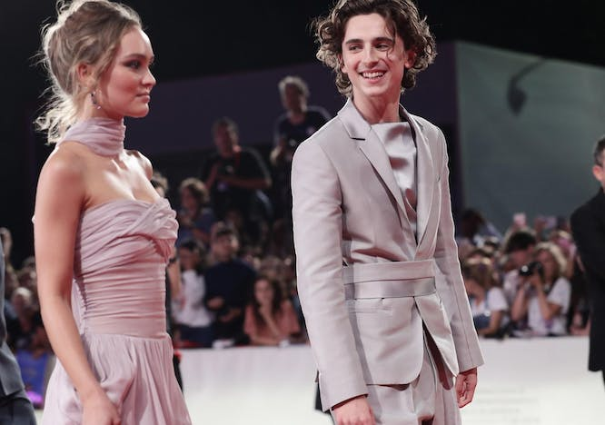 Lily Rose Depp and Timothee Chalamet