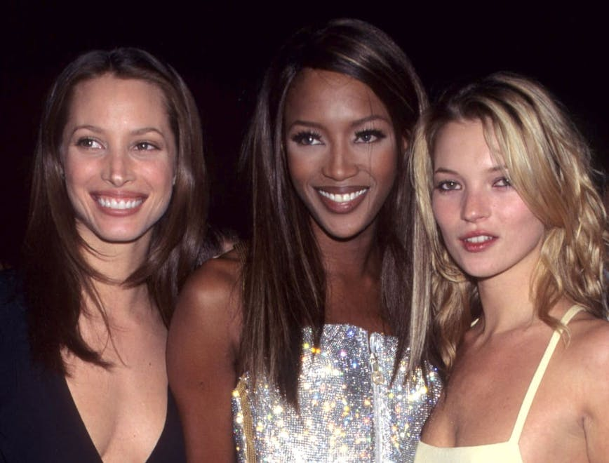 Christy Turlington, Naomi Campbell, and Kate Moss at the 1995 Met Gala.