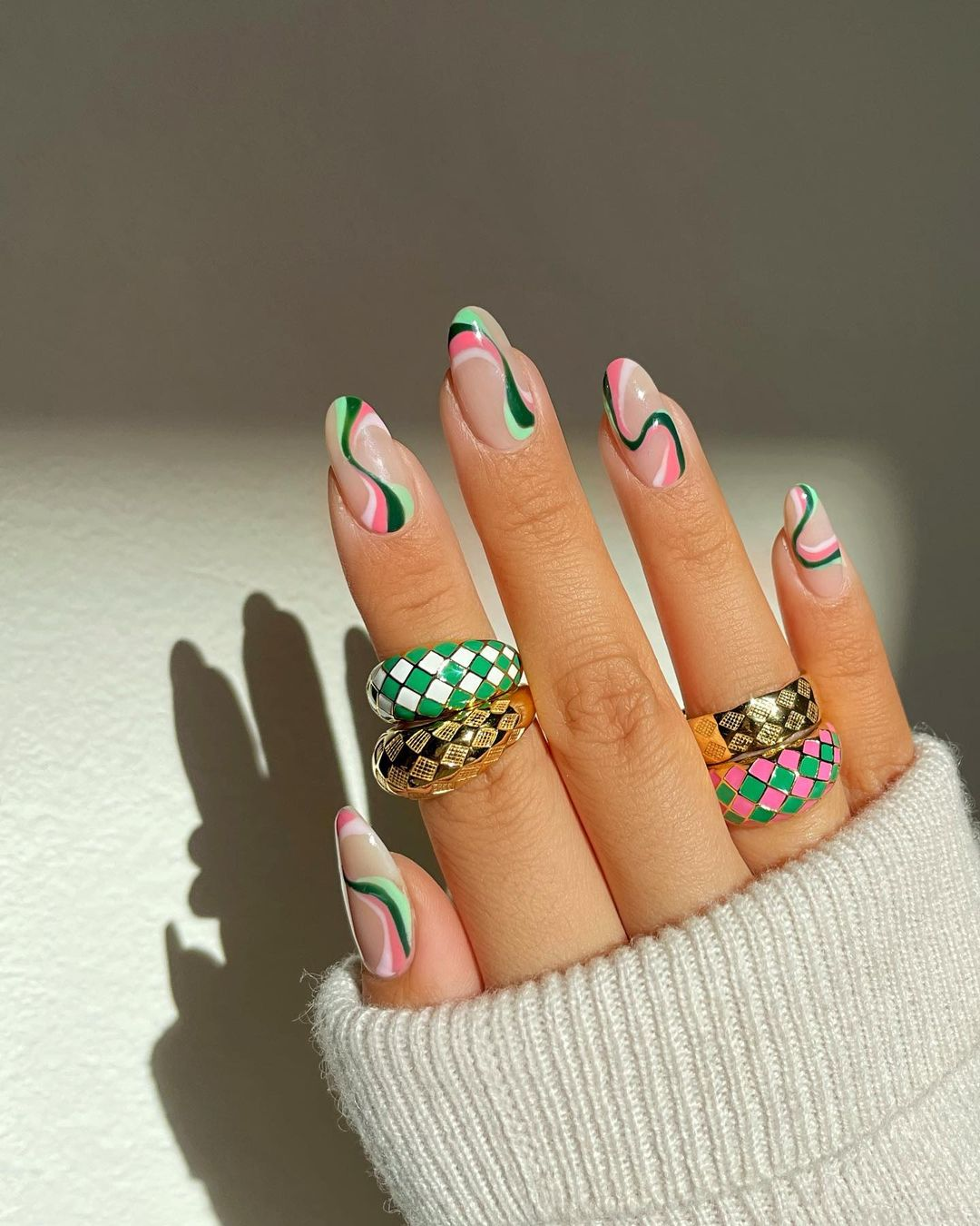 Psychedelic Nail Art is Taking Over This Summer - Summer 2021 Nail Art Beauty Trend