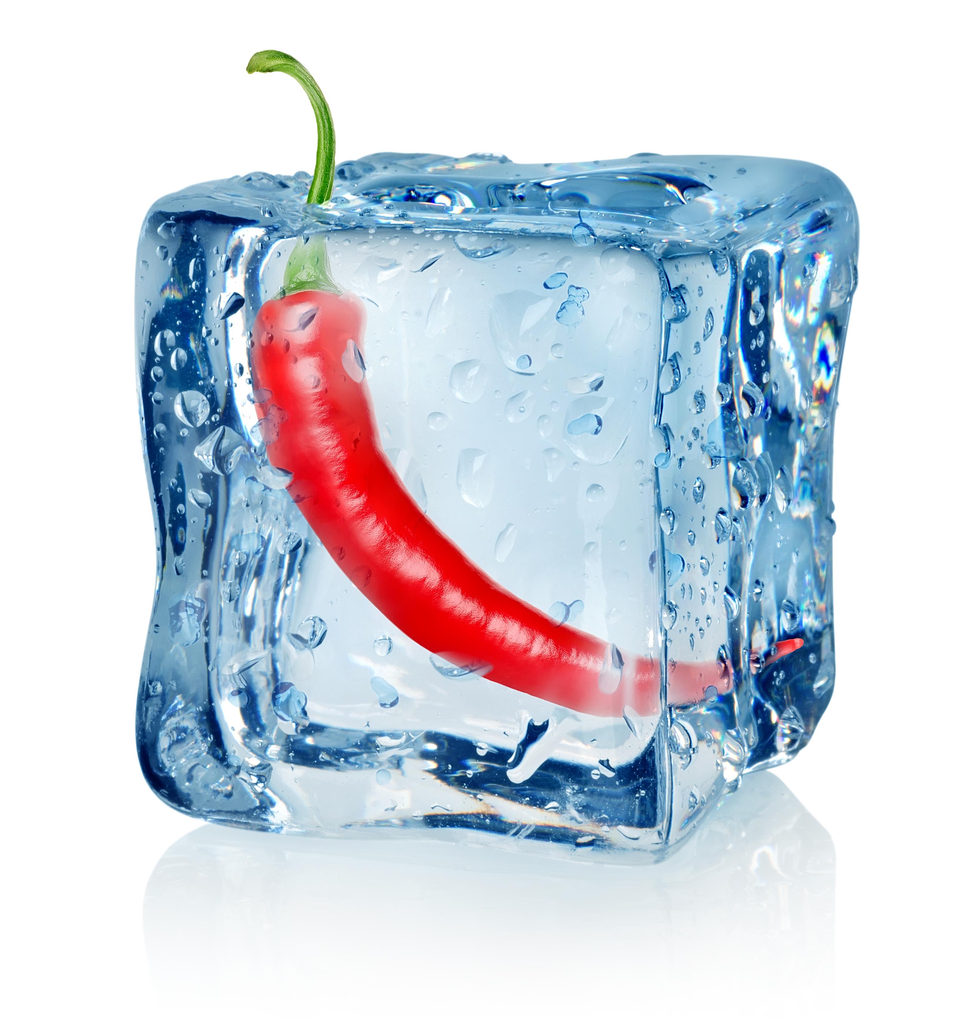 Peperoncino in cubetto di ghiaccio