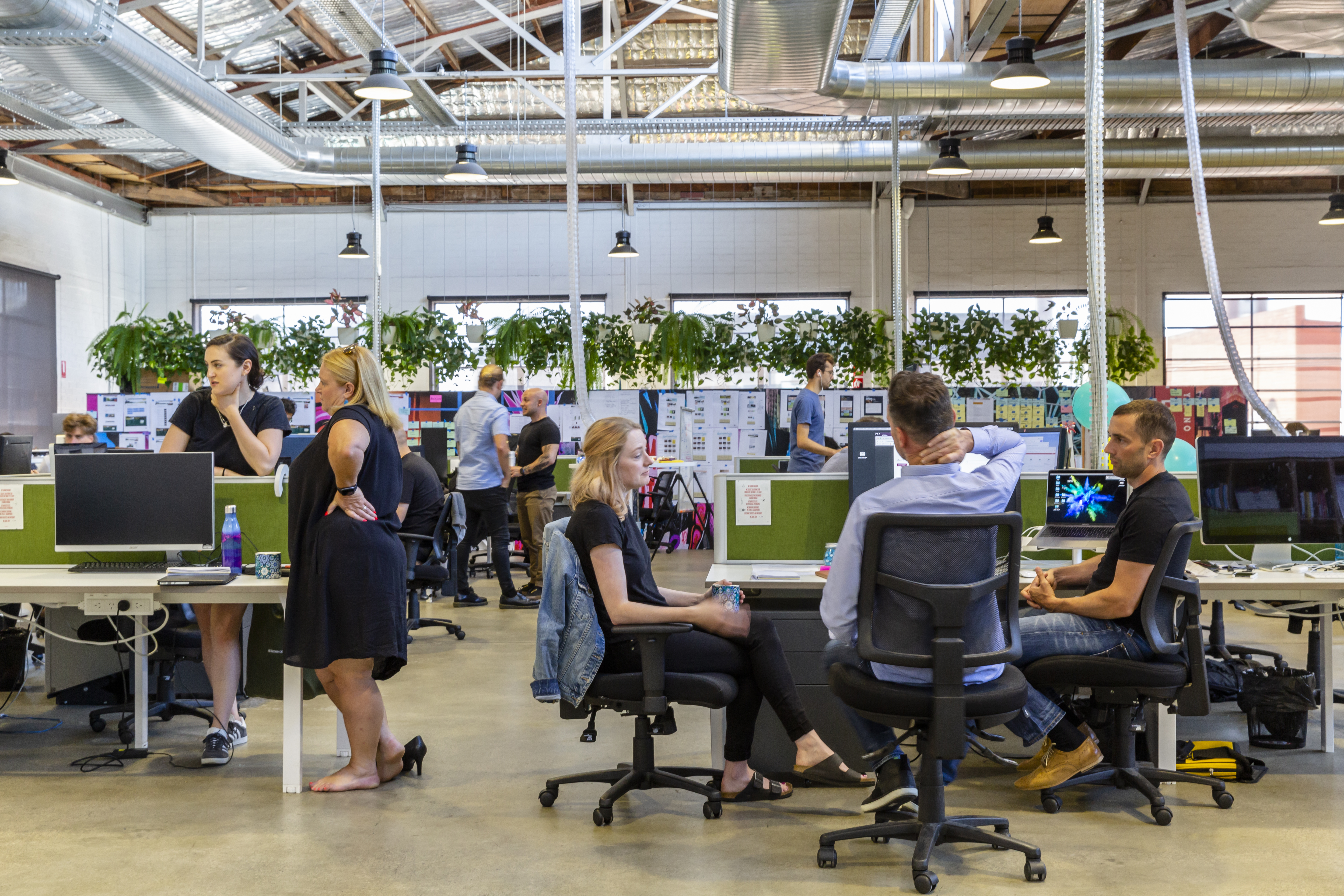 Office space with employees