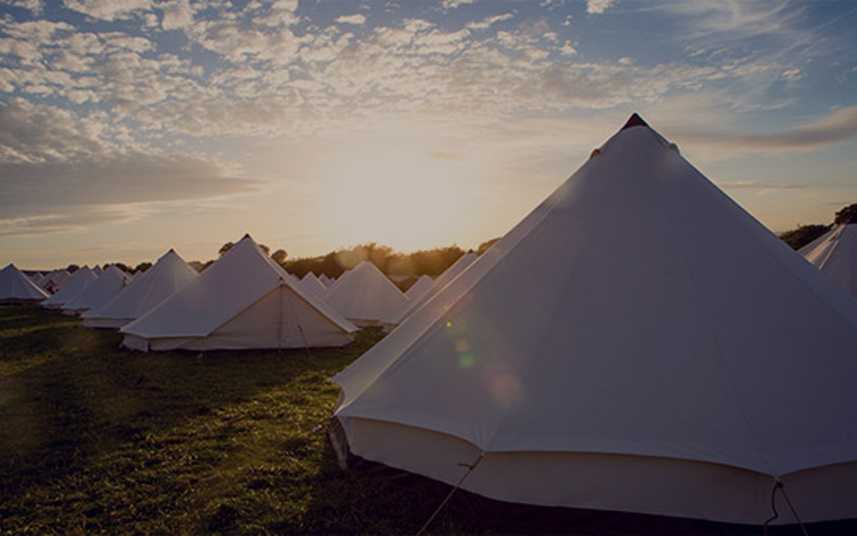 Minimal fuss bell tents (sleeps 2 - 6)