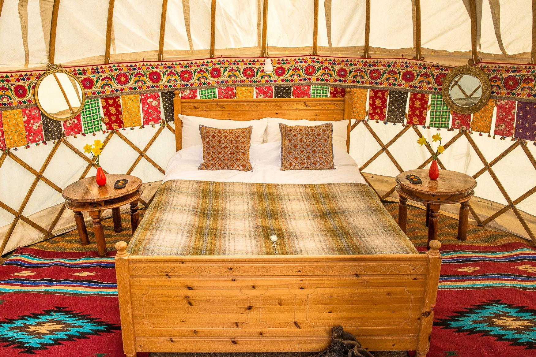 Luxury Yurts (sleeps 2 - 7)