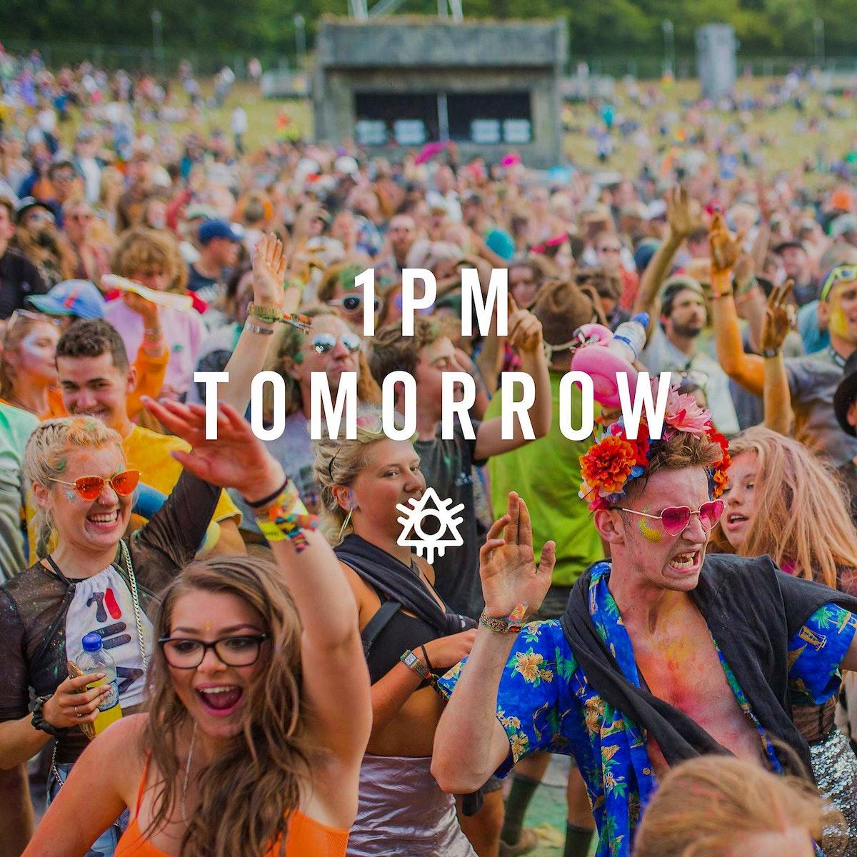1st Headliner - Tomorrow, 1pm