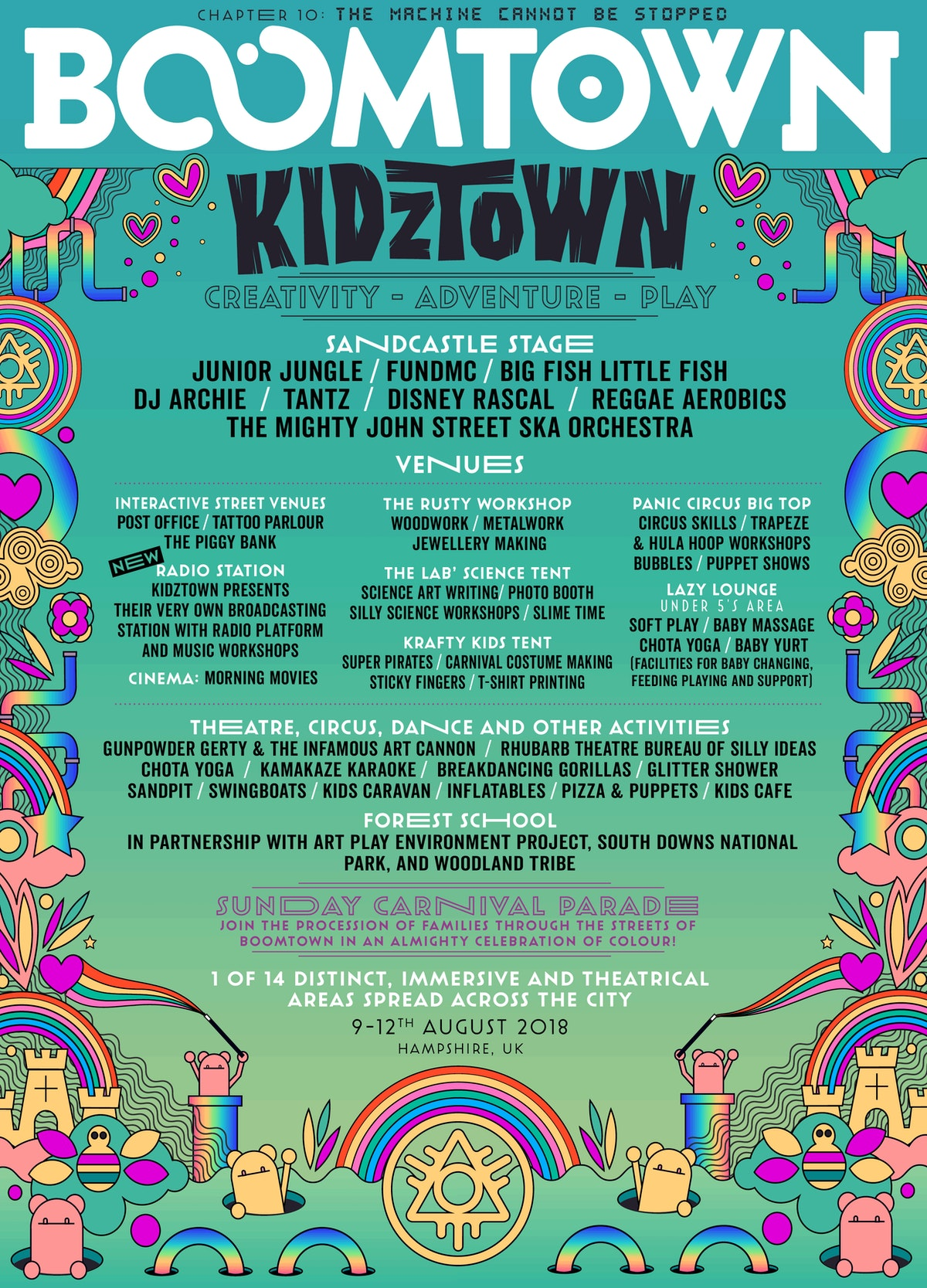 2018 Line-up Posters | Boomtown Chapter 11 - A Radical ...