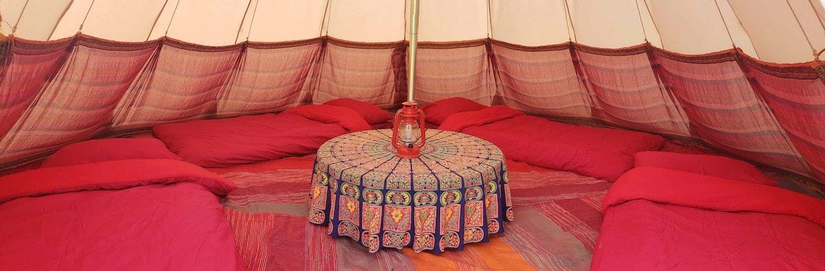 Luxury Tipi Tents (sleeps 2 - 5)