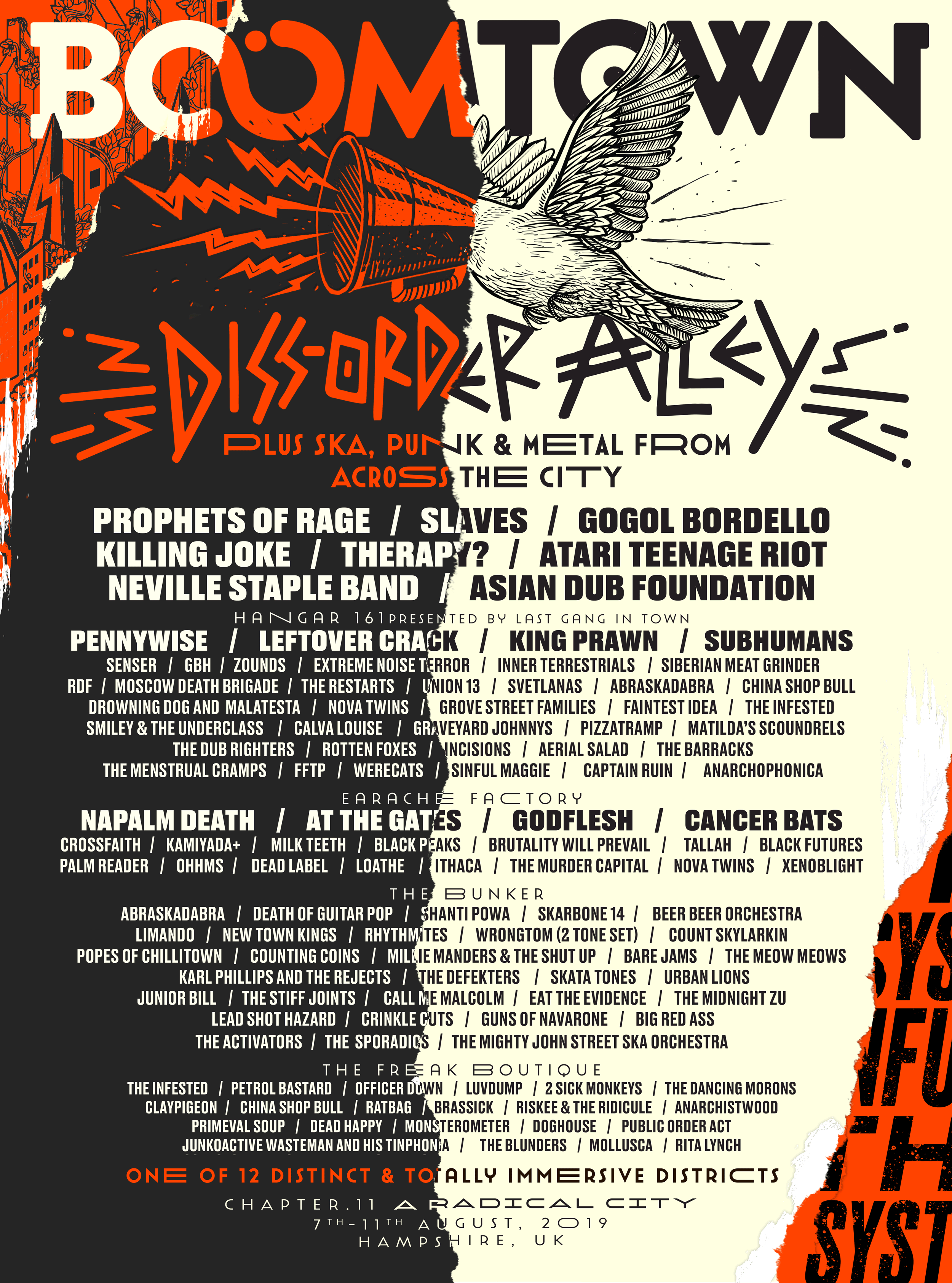 DISTRICT ANNOUNCEMENT: Diss-Order Alley
