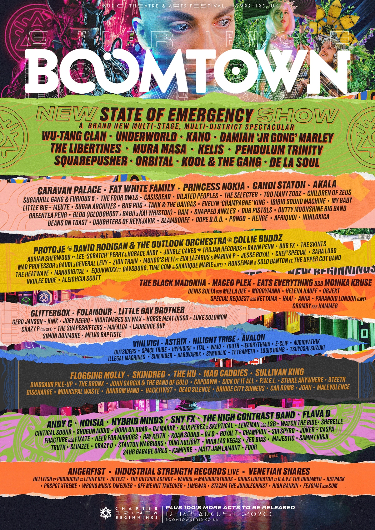 Lineup | Boomtown Chapter 12 New Beginnings 12th 16th