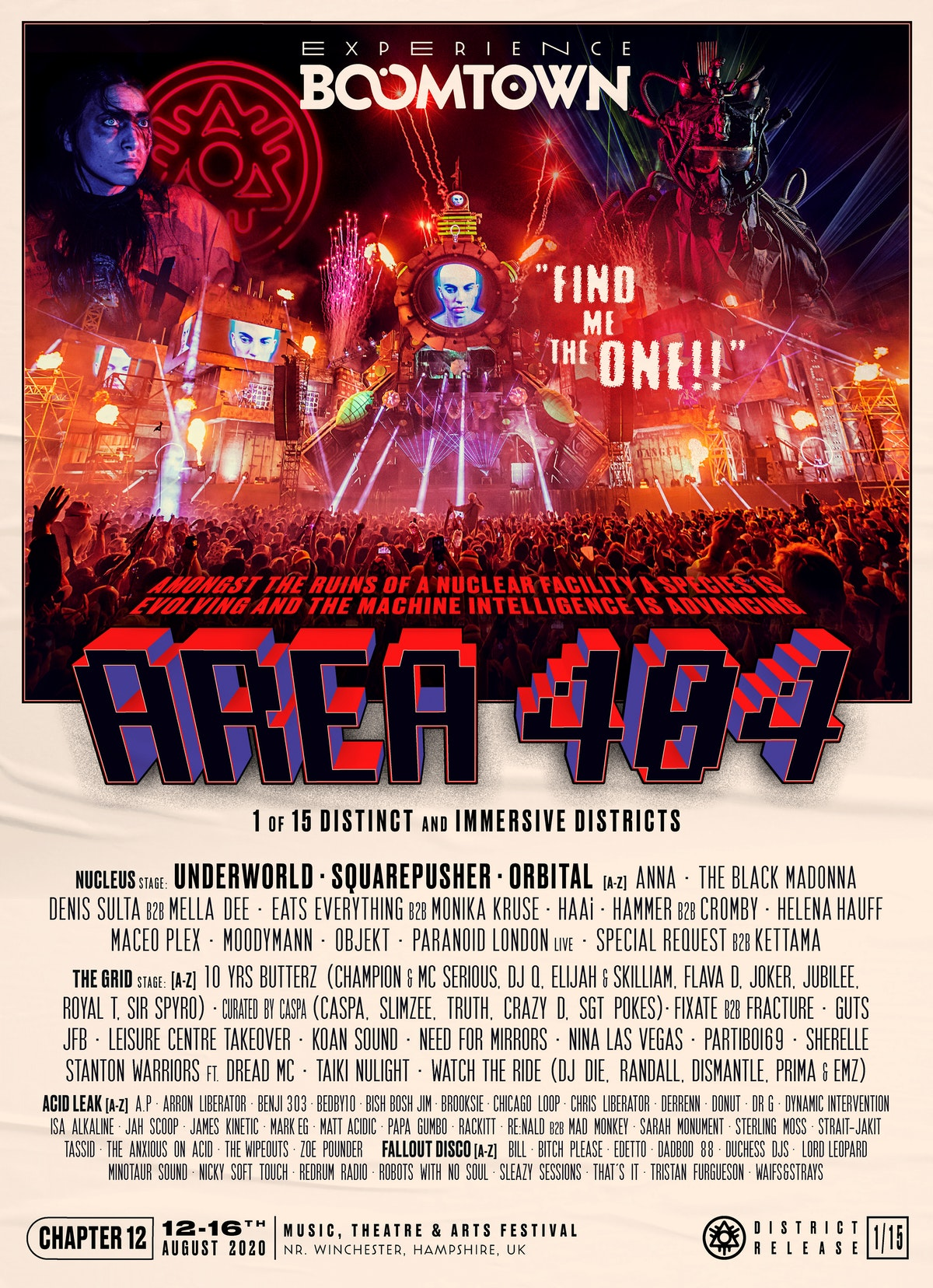 Area 404 Lineup Announcement | District 1/15