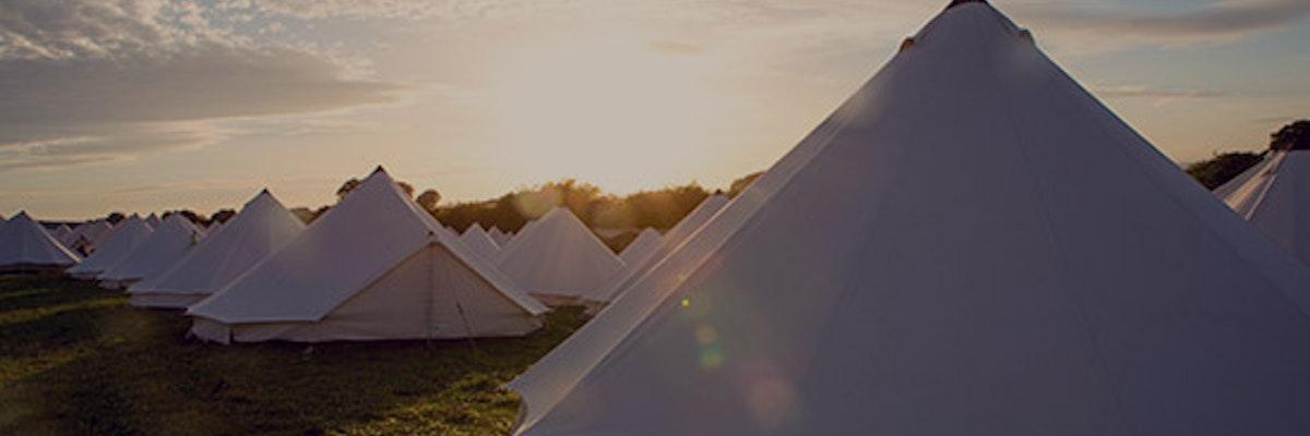 Minimal fuss bell tents (sleeps 2 - 6)