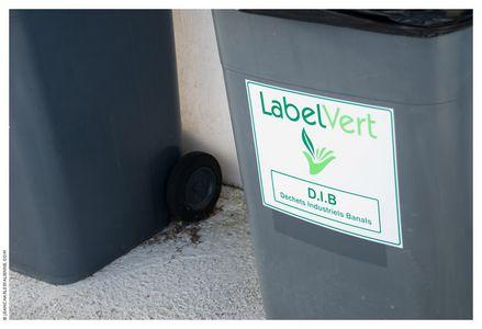Visuel poubelle Label Vert