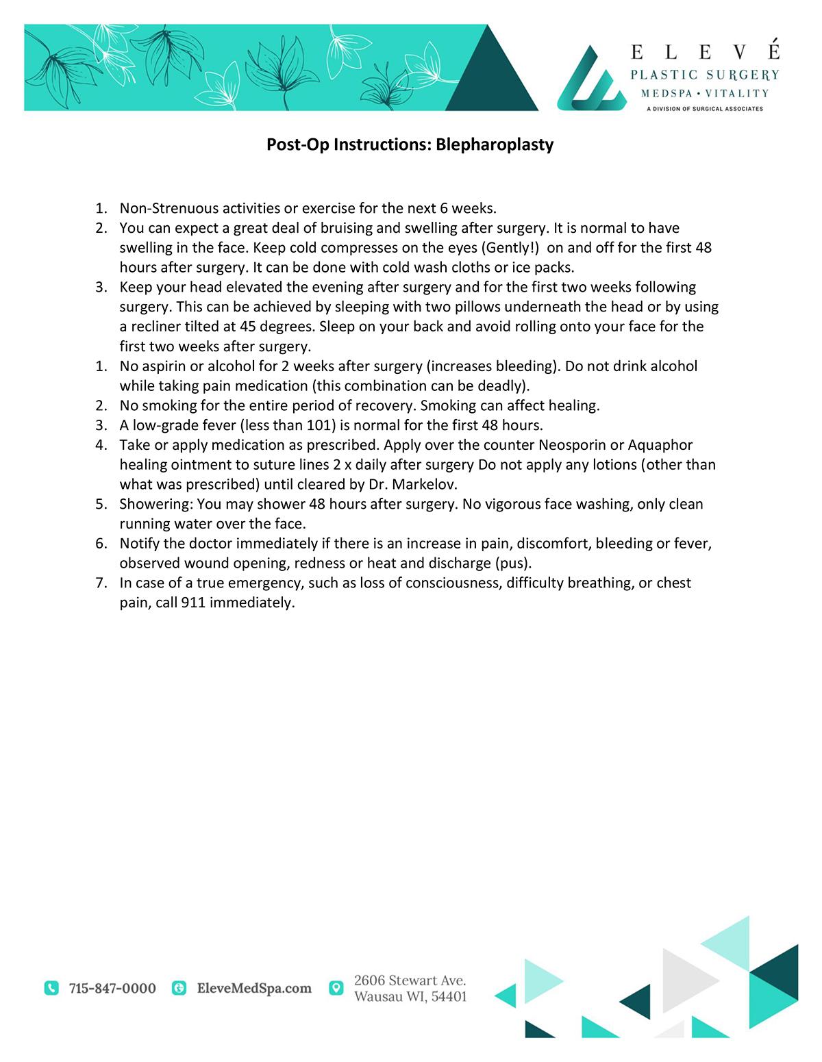 Postcare Instructions