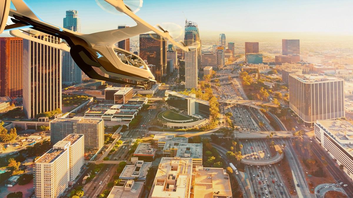 EmbraerX eVTOL flying. Credit: EmbraerX