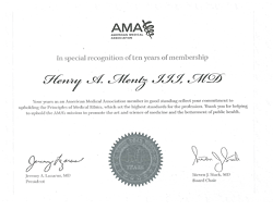 Member of the American Medical Association since 2002