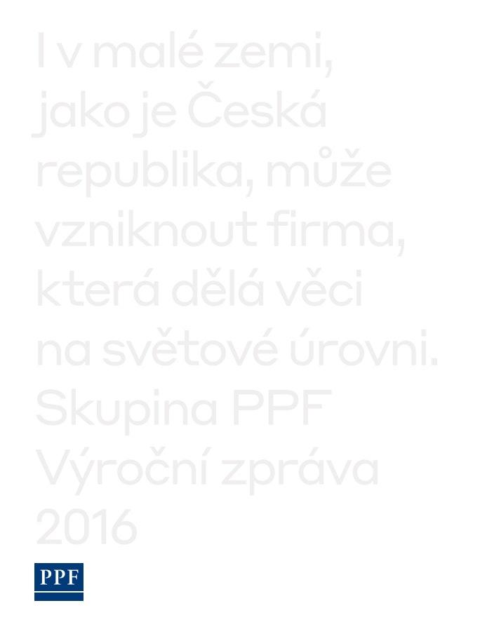 PPF Group N.V. Výroční zpráva 2016