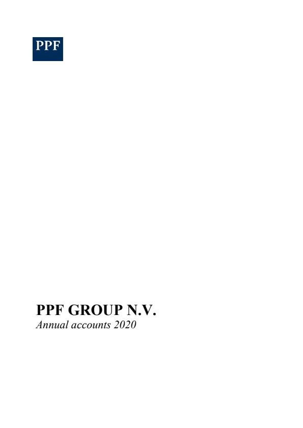 PPF Group N.V. Annual Accounts 2020 (20/5/2021)