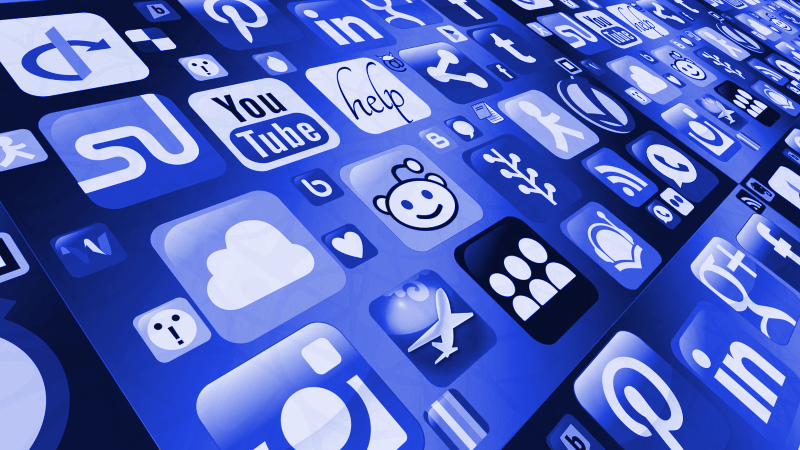 icons for several social applications