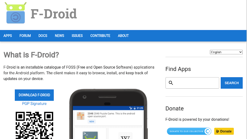 F-Droid landing page