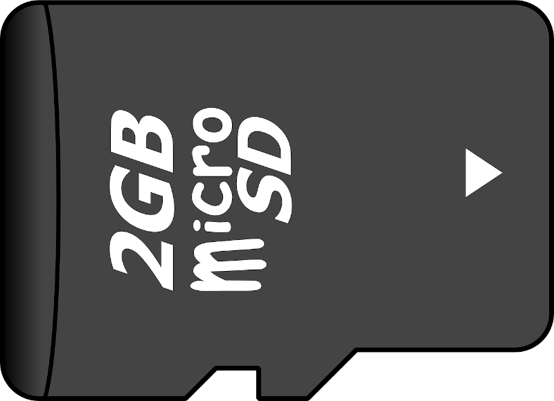 illustration of micro SD card