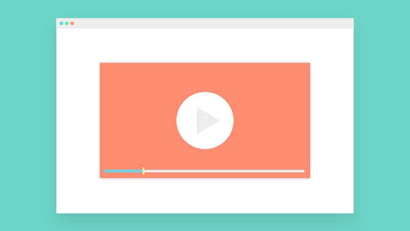 illustration of screen with video streaming site opened