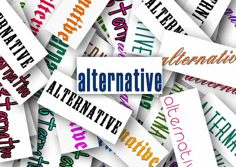 the word alternative on pieces of paper