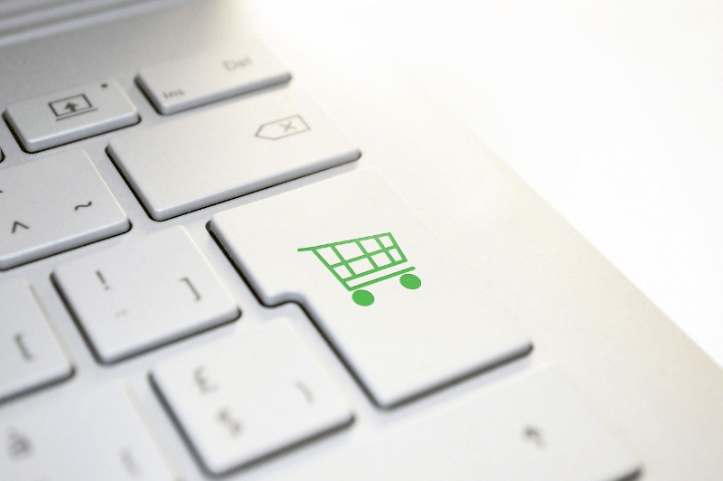 keyboard with shopping cart button