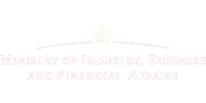 Erhvervsministeriet logo