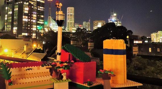 Maya Xavier, 'Lego Sydney Night', Darlinghurst, age 11.