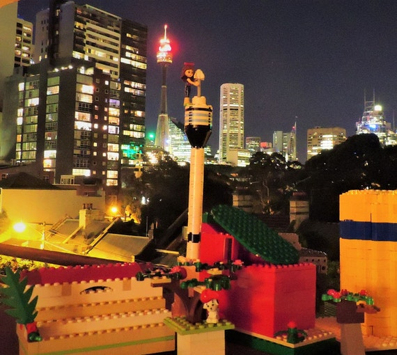 Maya Xavier, 'Lego Sydney Night', Darlinghurst, age 11.