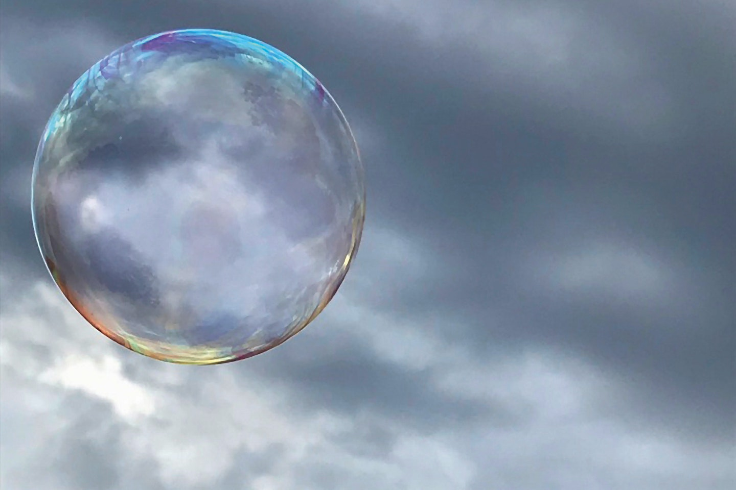Laura took this photo as part of a series of soap bubbles on a grey afternoon in the local park while playing with her 2 sisters. Photography became a passion of hers during lockdown and homeschooling.