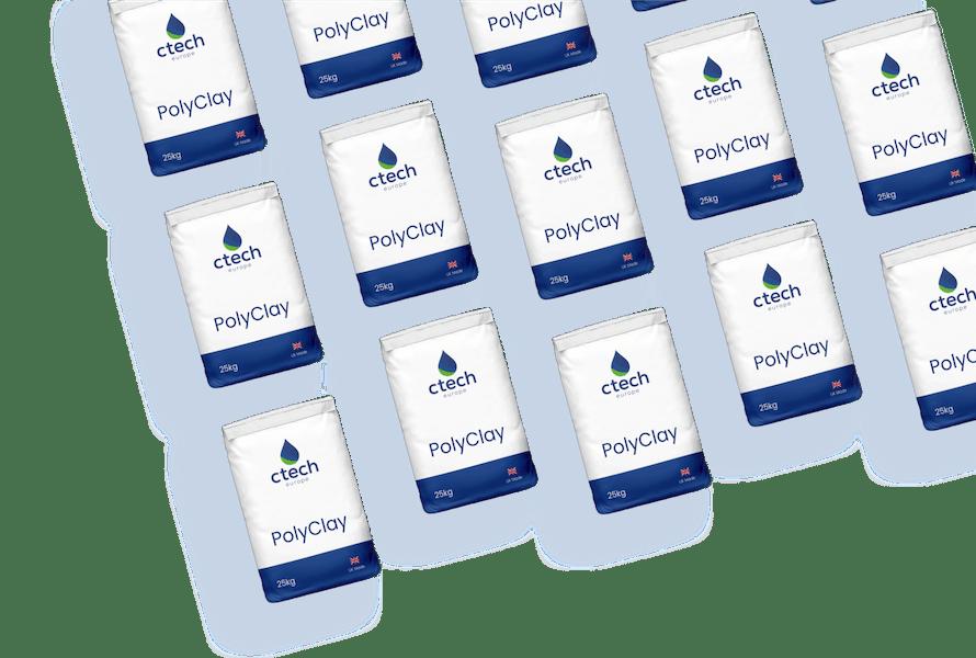 Ctech Europe Polyclay Wastewater Treatment Powder