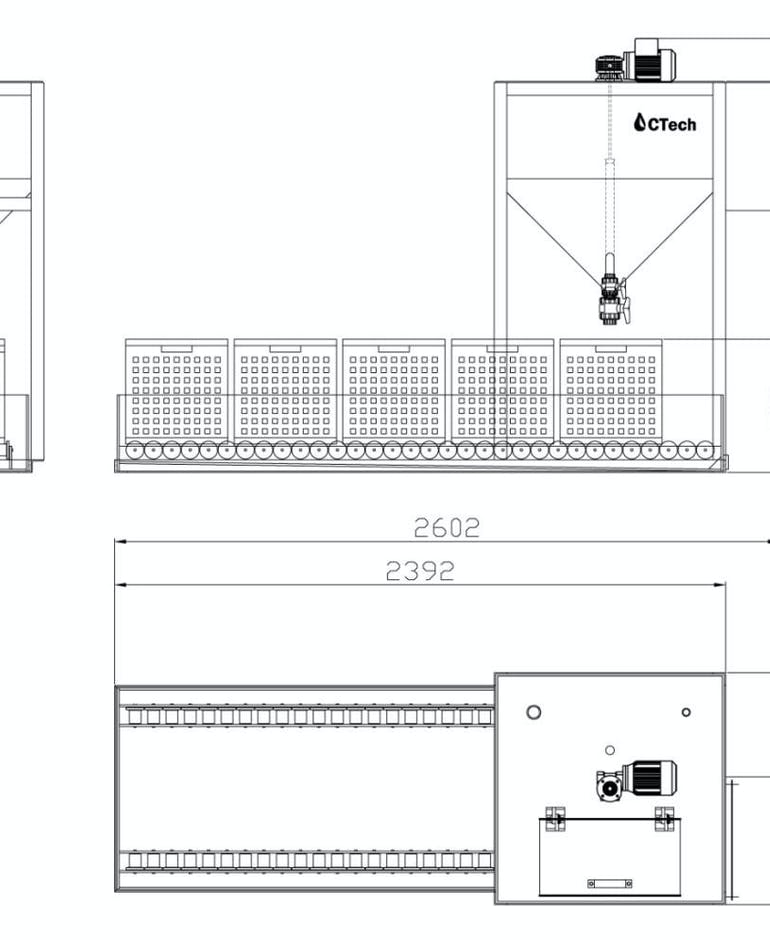 CBF Cratefilter Dimensions
