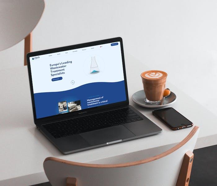 Ctech Europe New Website on Laptop Screen
