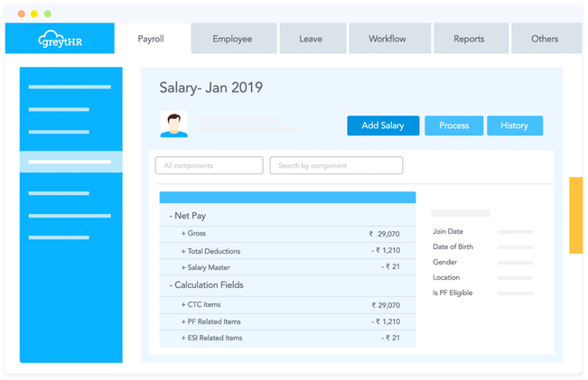 Configurable salary structure