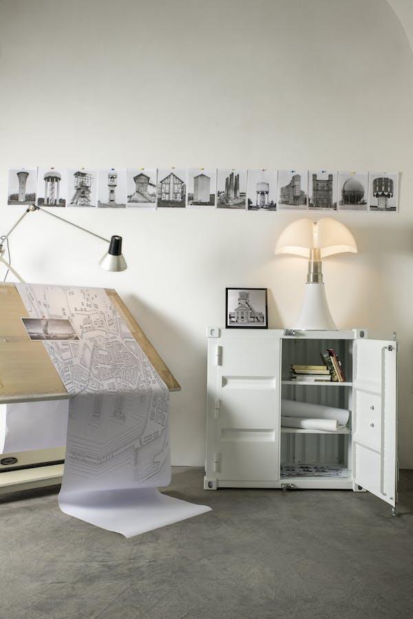 Storage Module Pandora by Kubikoff, design Sander Mulder for Kubikoff, Pipistrello Lamp