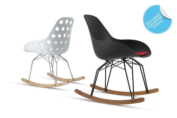 Kubikoff Design Rocking Chair Diamond with Arm shell European Consumers Choice