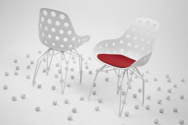 Kubikoff Chair Diamond Dimple Golf Ball Inspired