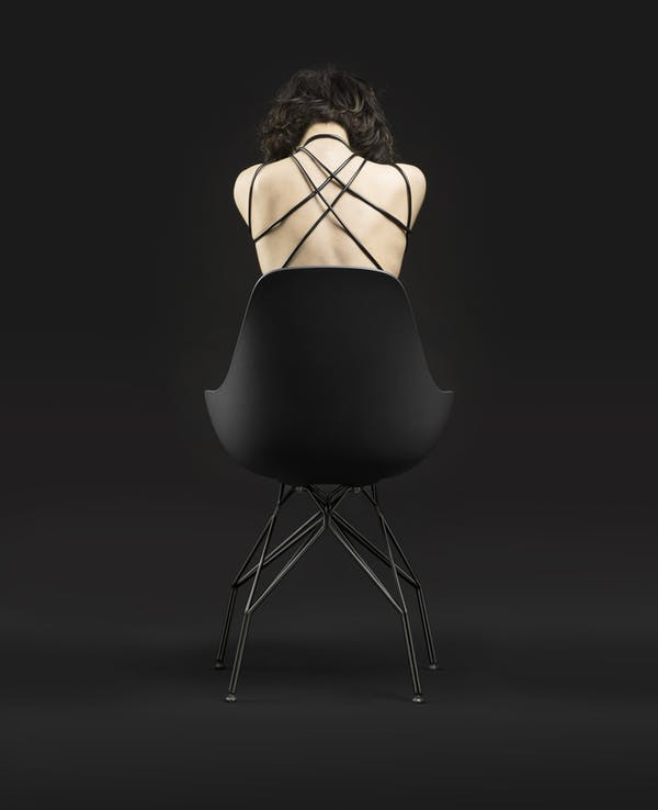 Kubikoff Chair Triple Dimple. Dimple Shell design by Sander Mulder. Triple Base design by Sander Mulder.