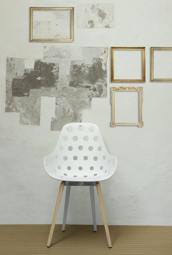 Kubikoff Chair Slice, design by Sander Mulder for Kubikoff. Dimple Holes Shell, Gold Ball pattern design inspiration