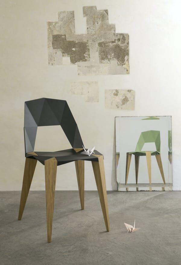 Pythagoras Chair by Sander Mulder for Kubikoff. Kubikoff Chair Pythagoras. 4 Legged Chair
