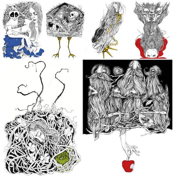 D-Light Chair by Kubikoff, Litte Red Riding Hood, BeautyandtheBeast, Baba Jaga, Snow WhiteandTheSevenDwarfs, AliceinWonderland, SleepingBeauty