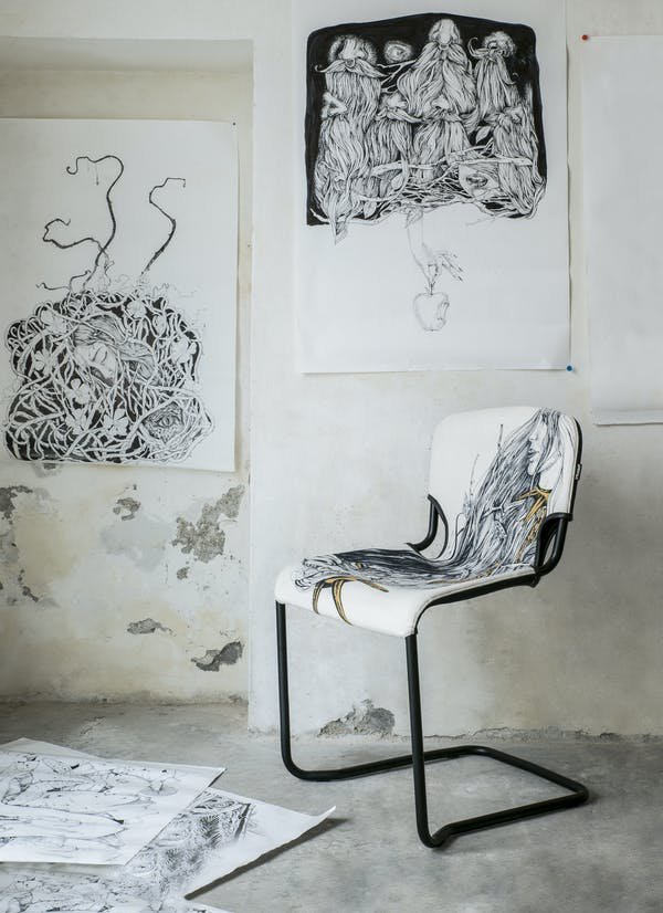 D-Light Chair by Kubikoff, Alice in Wonderland