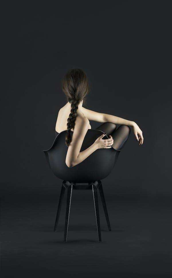 Kubikoff Chair Slice, Slice base design by Sander Mulder for Kubikoff, V9 Arm Shell design by Matteo Calonaci for Kubikoff