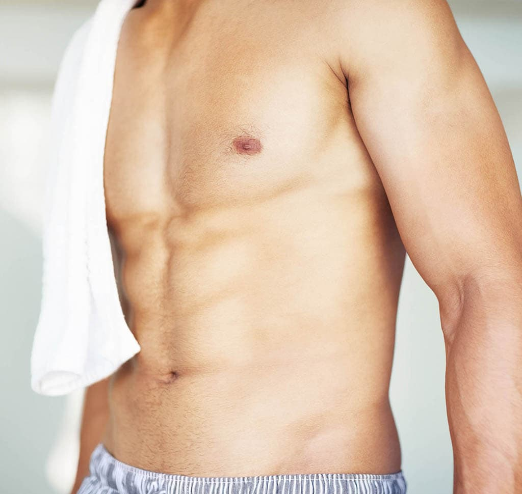 Shirtless man's chest