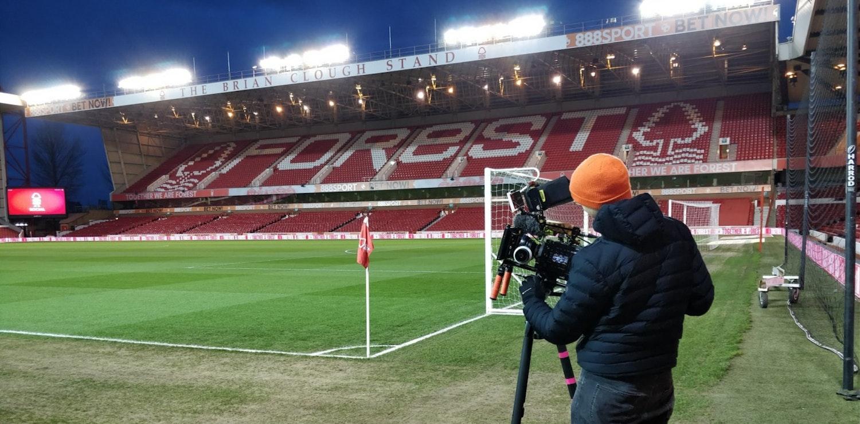 David Stewart filming at Nottingham Forest City Ground