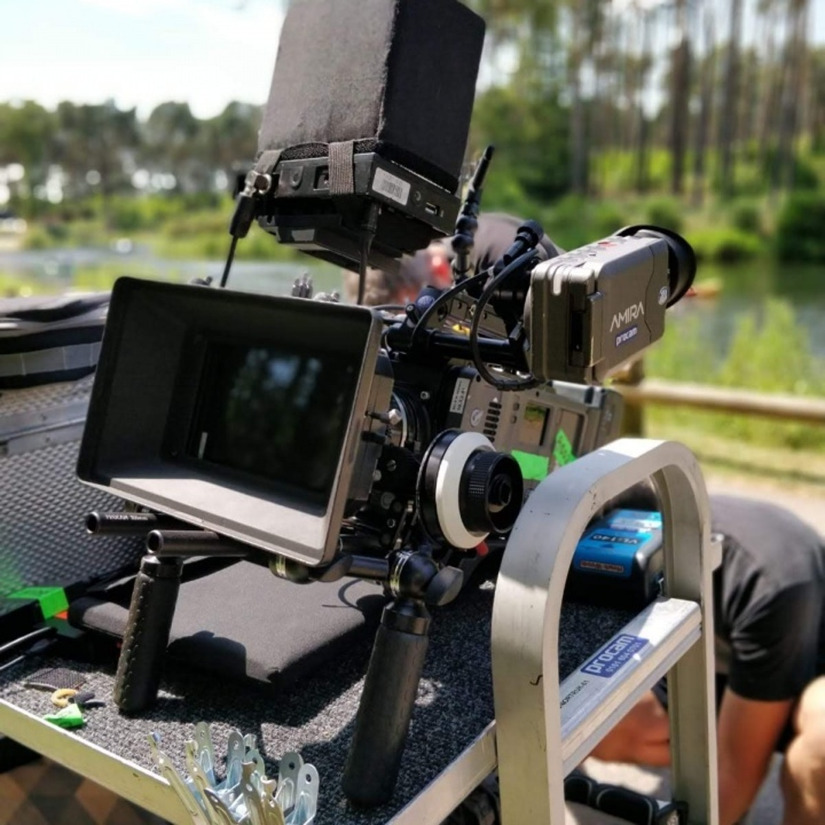 A camera set up BTS for Center Parcs This is Family shoot