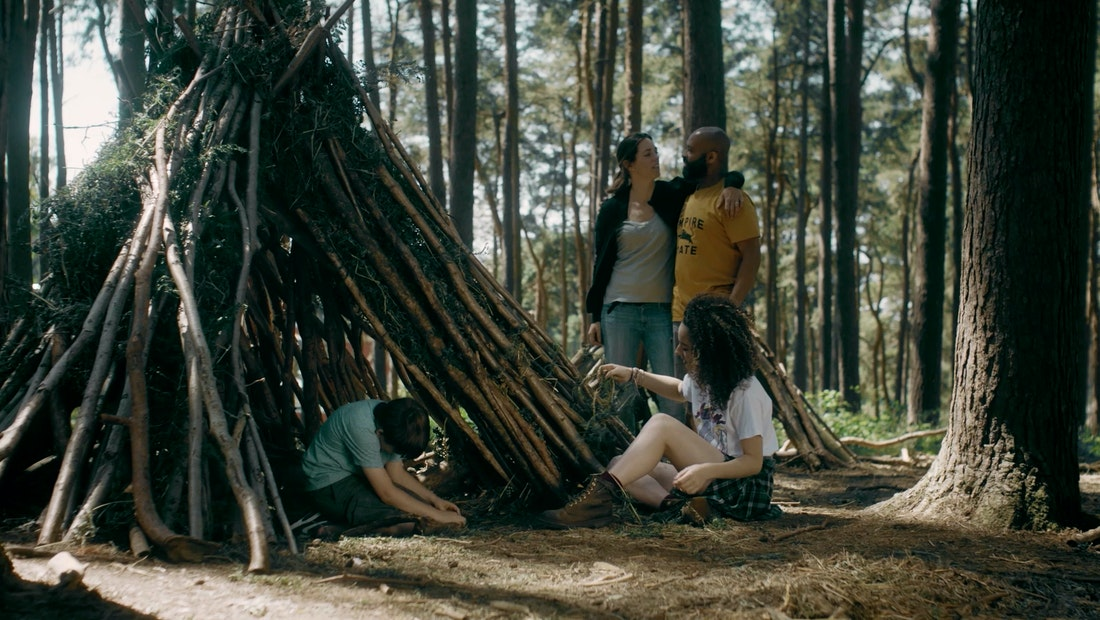 Still image from Center Parcs campaign